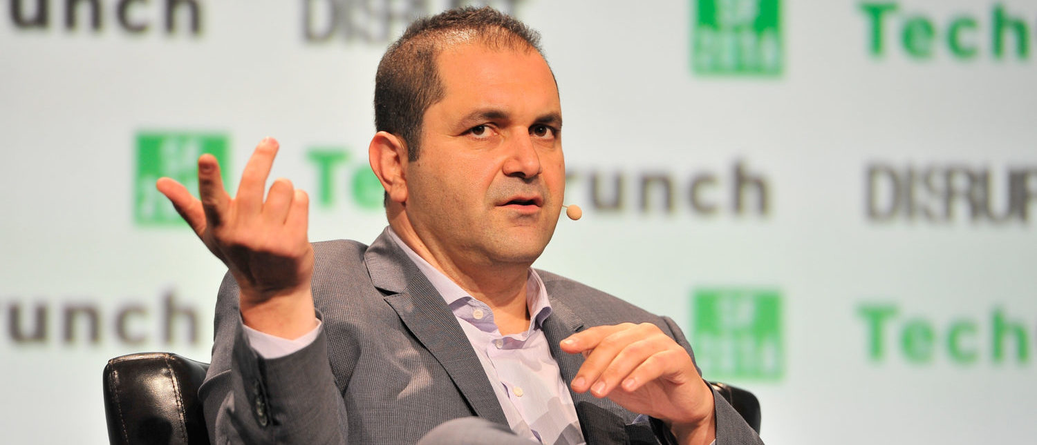 SAN FRANCISCO, CA - SEPTEMBER 14: Executive Chairman of Hyperloop One Shervin Pishevar speaks onstage during TechCrunch Disrupt SF 2016 at Pier 48 on September 14, 2016 in San Francisco, California. (Photo by Steve Jennings/Getty Images for TechCrunch)