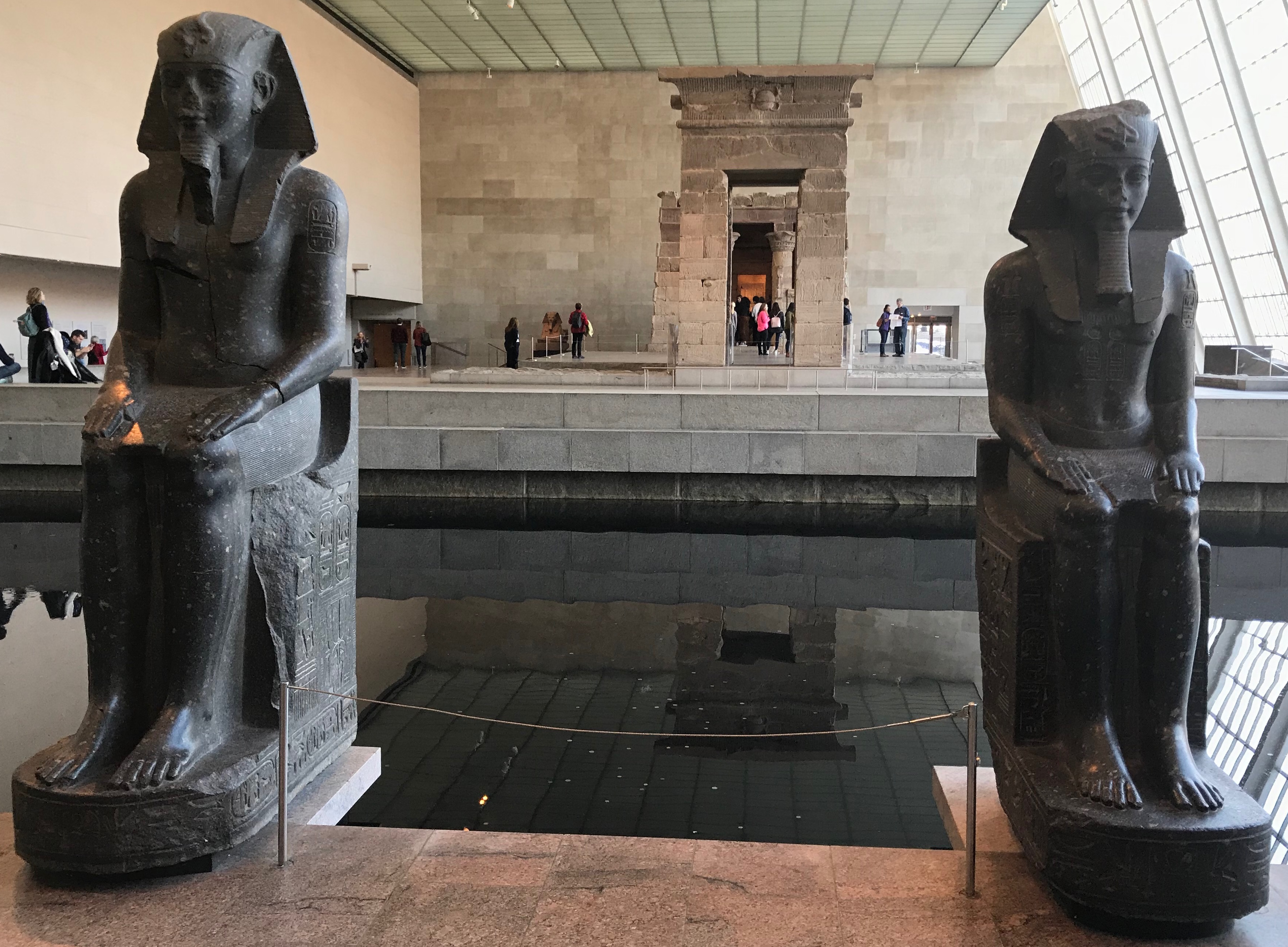 The view of the Temple of Dendur from an entrance of the Sackler Wing at the Metropolitan Museum of Art in New York City. (DCNF/Ethan Barton)