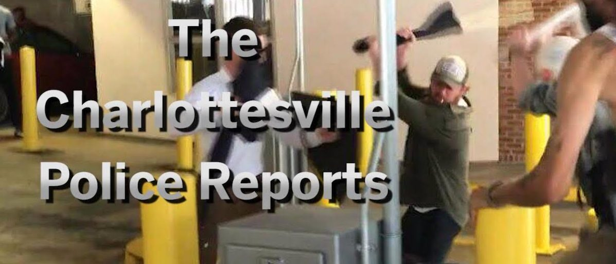 The Charlottesville Police Reports Screen shot/brightcove