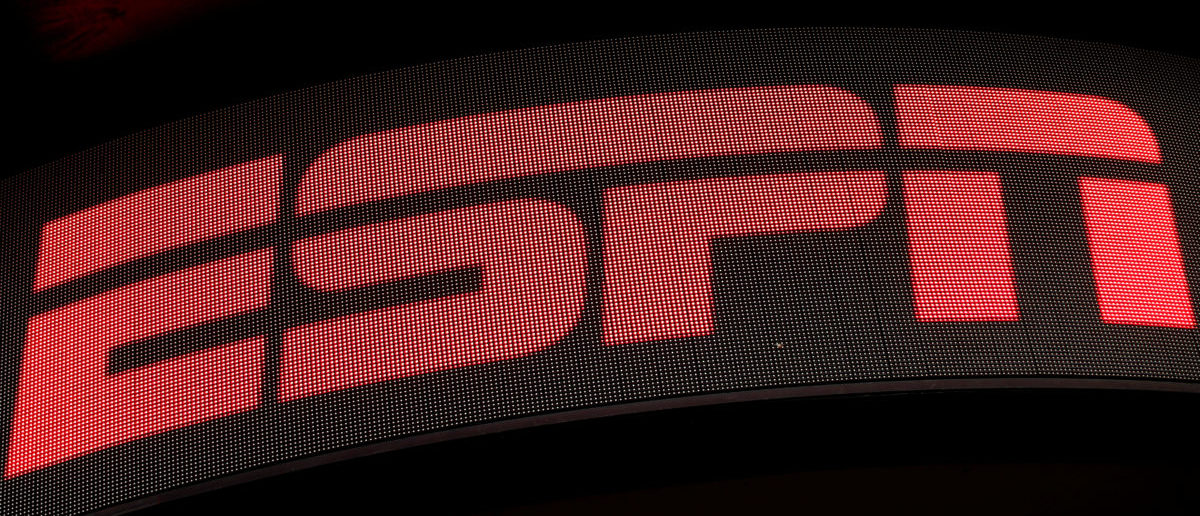 The ESPN logo is seen on an electronic display in Times Square in New York City, U.S., August 23, 2017. (Photo: REUTERS/Mike Segar)