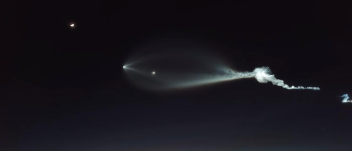 Twitter Screenshot SpaceX rocket launch