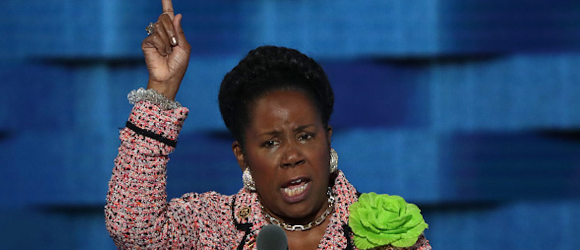 PHILADELPHIA, PA - JULY 27: U.S. Representative Sheila Jackson Lee (D-TX) delivers remarks on the third day of the Democratic National Convention at the Wells Fargo Center, July 27, 2016 in Philadelphia, Pennsylvania. Democratic presidential candidate Hillary Clinton received the number of votes needed to secure the party's nomination. An estimated 50,000 people are expected in Philadelphia, including hundreds of protesters and members of the media. The four-day Democratic National Convention kicked off July 25. (Photo by Alex Wong/Getty Images)