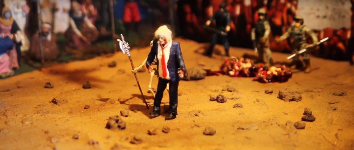Zombie Trump Nativity (youtube screenshot/ Brooklyn Daily Eagle)