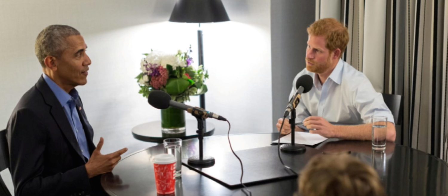 Britain's Prince Harry is seen interviewing former U.S. President Barack Obama, in Canada, in a 'Today Programme' exclusive, in this undated still image taken from video and received via 'The Today Programme on the BBC Radio 4' in London, Britain on December 27, 2017. (Photo: BBC via REUTERS/Handout)