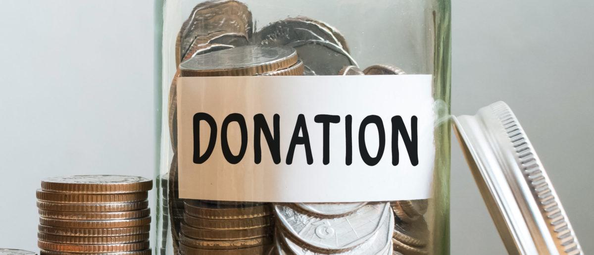 A charitable giving photo. (Shutterstock/Monster Ztudio)