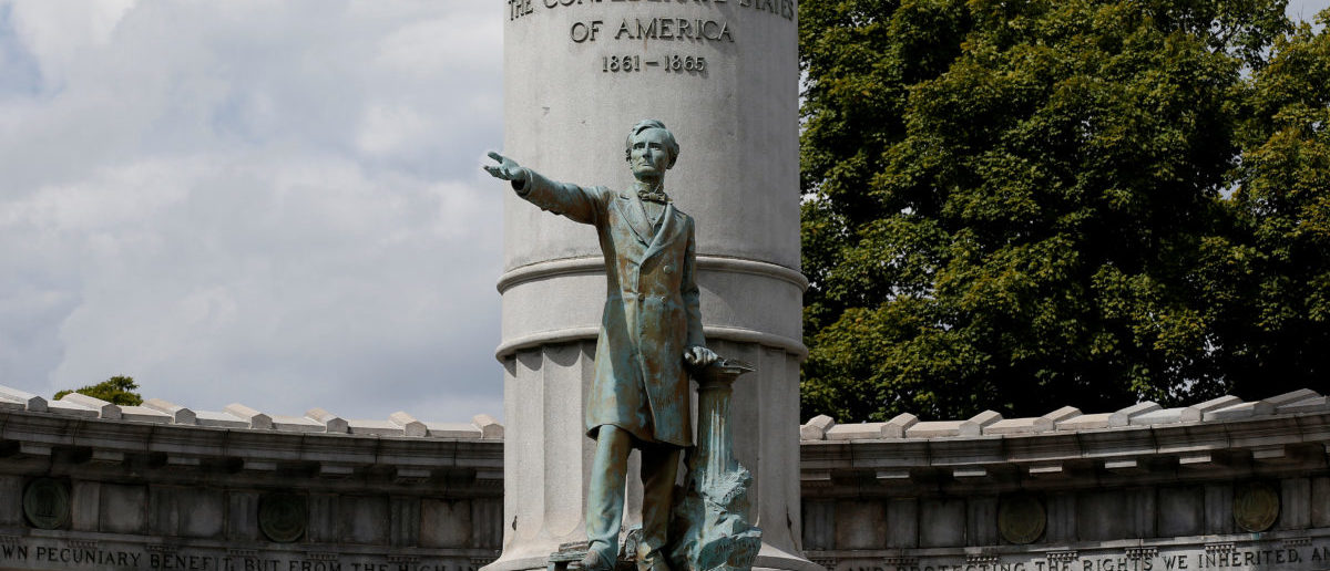 The statue of Jefferson Davis, president of the Confederate States of America, stands in Richmond, Virginia, U.S., September 16, 2017. REUTERS/Joshua Roberts