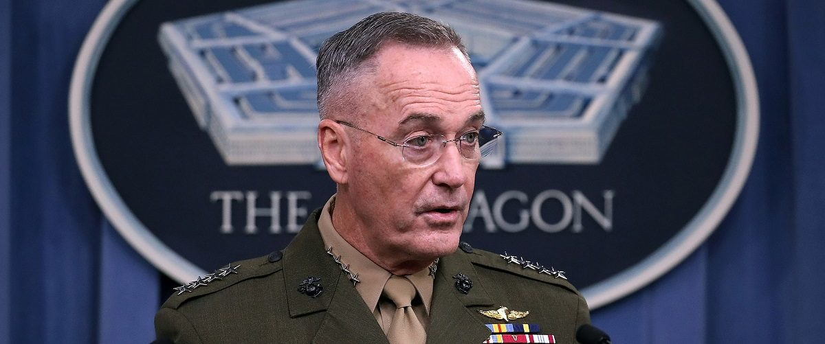 Chairman Of The Joint Chiefs Of Staff Gen. Dunford Holds Briefing At Pentagon