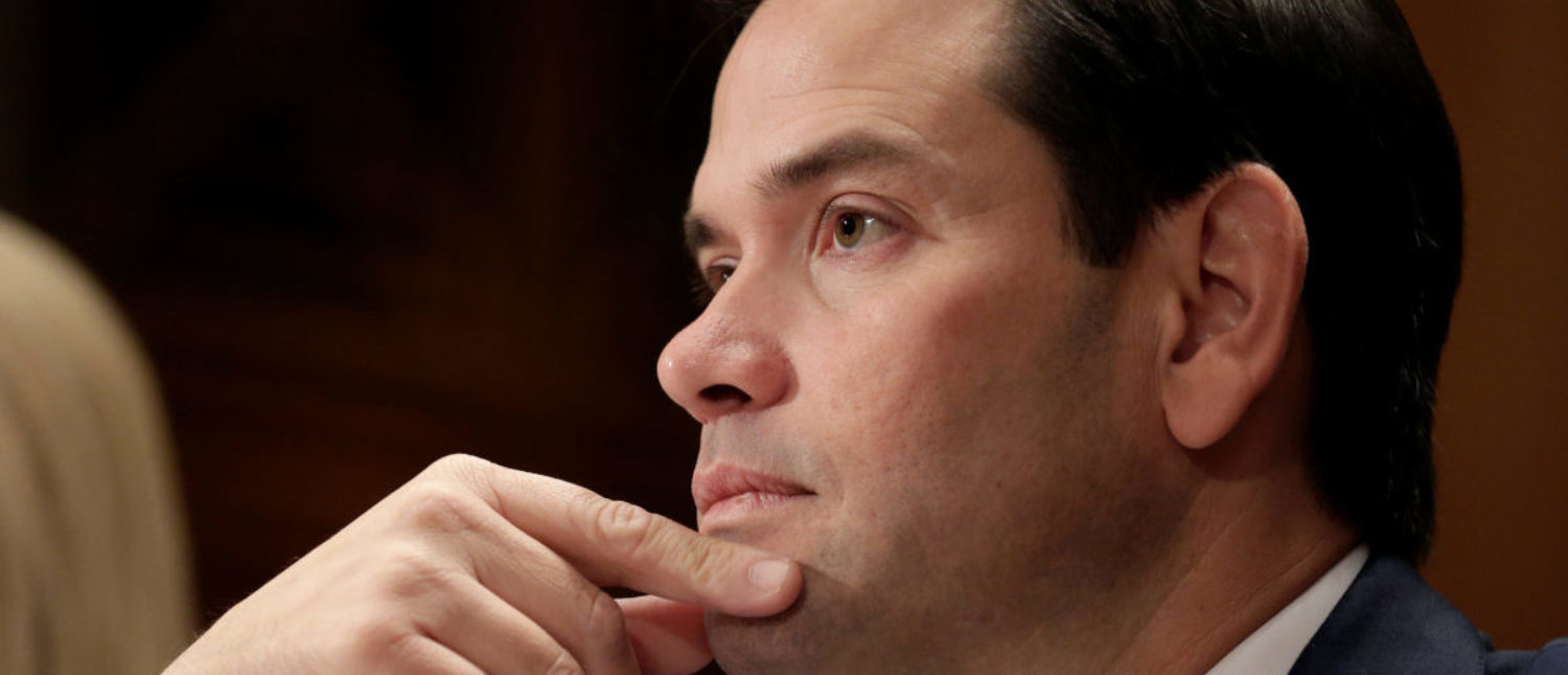 Senator Marco Rubio (R-FL) waits to speak in support of Kirstjen Nielsen's nomination to be secretary of the Department of Homeland Security (DHS) during a hearing by the Senate Homeland Security and Governmental Affairs Committee in Washington, U.S., November 8, 2017. REUTERS/Joshua Roberts