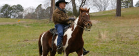 Republican candidate for U.S. Senate Judge Roy Moore rides his horse to a polling station before voting in Gallant, Alabama, U.S., December 12, 2017.  REUTERS/Jonathan Bachman