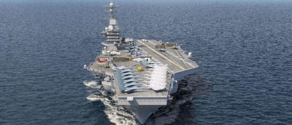 Aircraft carrier (Credit: Shutterstock) | Pentagon Holding Up A Big GOP Energy Bill