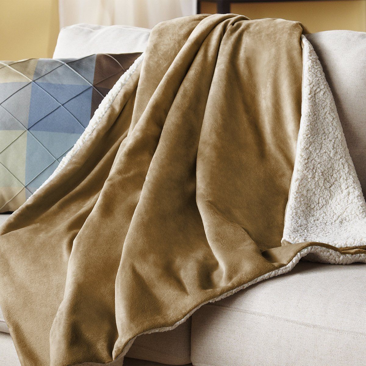 stay warm this winter with this heated throw blanket on sale for cyber monday deals week the. Black Bedroom Furniture Sets. Home Design Ideas