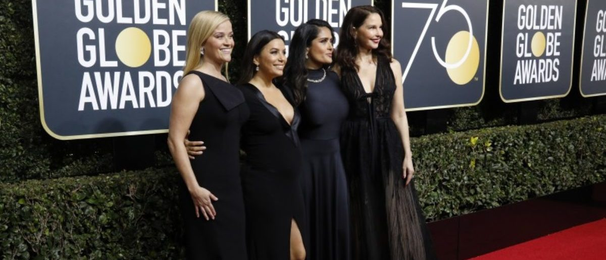 75th Golden Globe Awards – Arrivals – Beverly Hills, California, U.S., 07/01/2018 – (L-R) Actresses Reese Witherspoon, Eva Longoria, Salma Hayek, Ashley Judd. REUTERS/Mario Anzuoni
