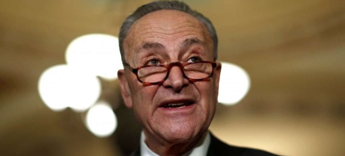 Senate Minority Leader Chuck Schumer (D-NY) speaks after the Democratic policy luncheon on Capitol Hill in Washington, U.S., January 9, 2018. REUTERS/Joshua Roberts