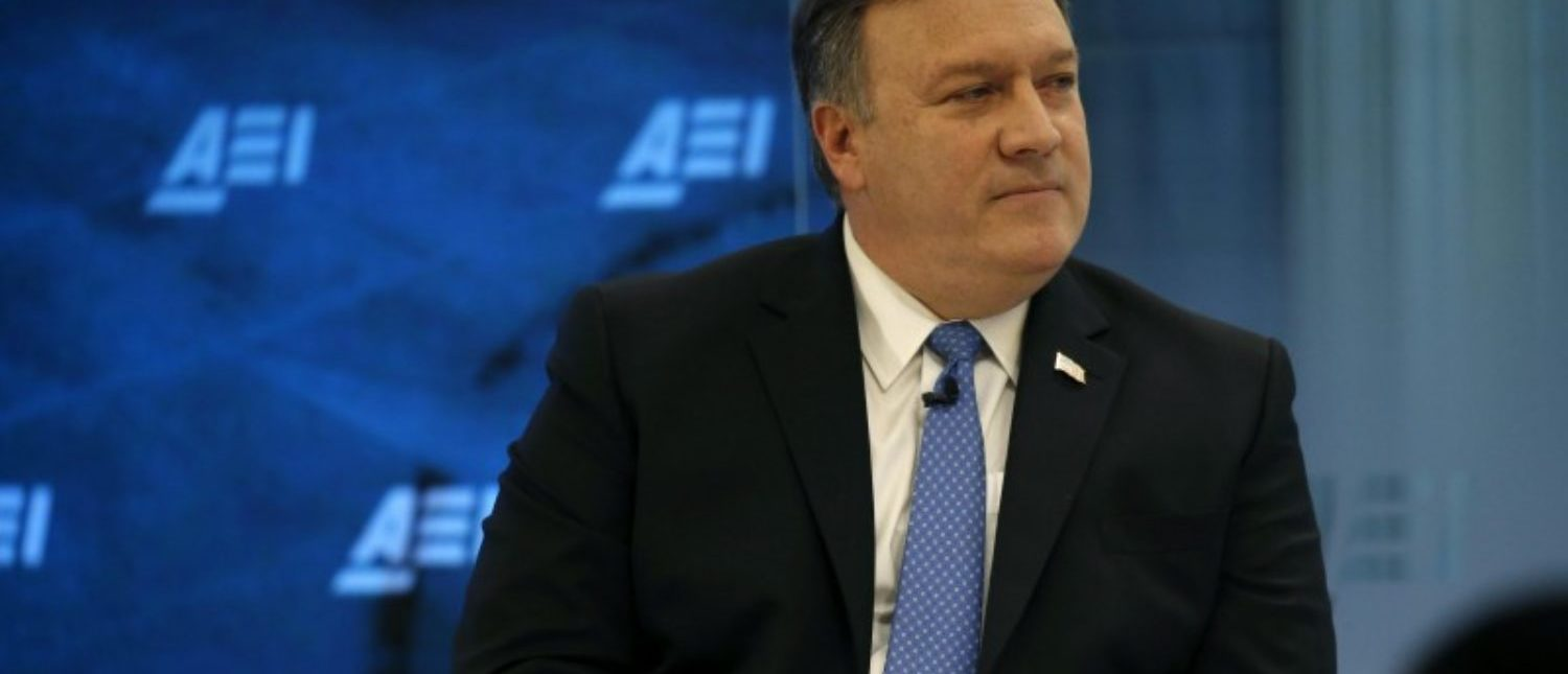 Pompeo Speaks At Meeting