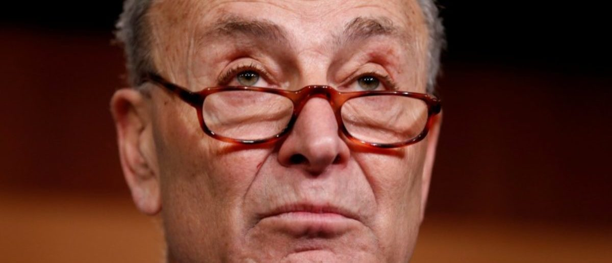 Senate Minority Leader Chuck Schumer (D-NY) speaks during a news conference after President Donald Trump and the U.S. Congress failed to reach a deal on funding for federal agencies on Capitol Hill in Washington, U.S., January 20, 2018. REUTERS/Joshua Roberts
