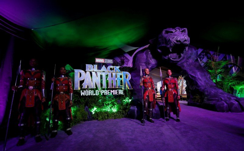 "A general view of the entrance for the premiere of ""Black Panther"" in Los Angeles, California, U.S., January 29, 2018. REUTERS/Mario Anzuoni"