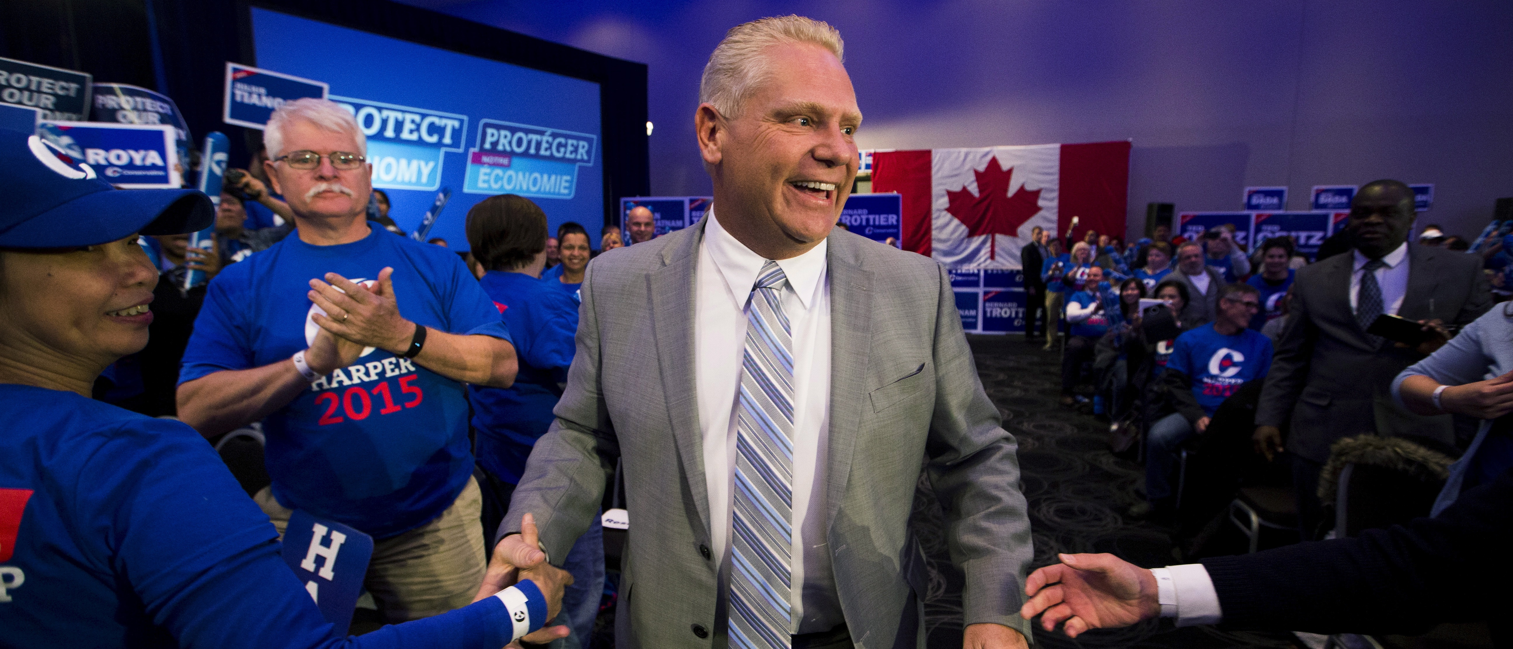 Former Toronto city councillor Doug Ford, brother to late Toronto Mayor Rob Ford, arrives at s Stephen Harper' rally in Toronto, Ontario, October 17, 2015. REUTERS/Mark Blinch