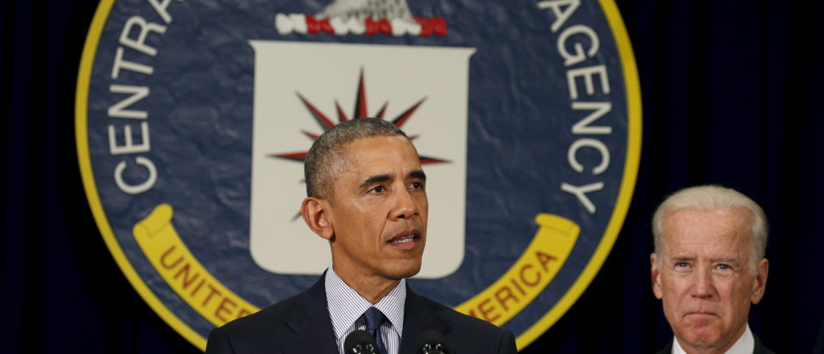 President Barack Obama speaks at the CIA Headquarters. April 13, 2016.  REUTERS/Kevin Lamarque