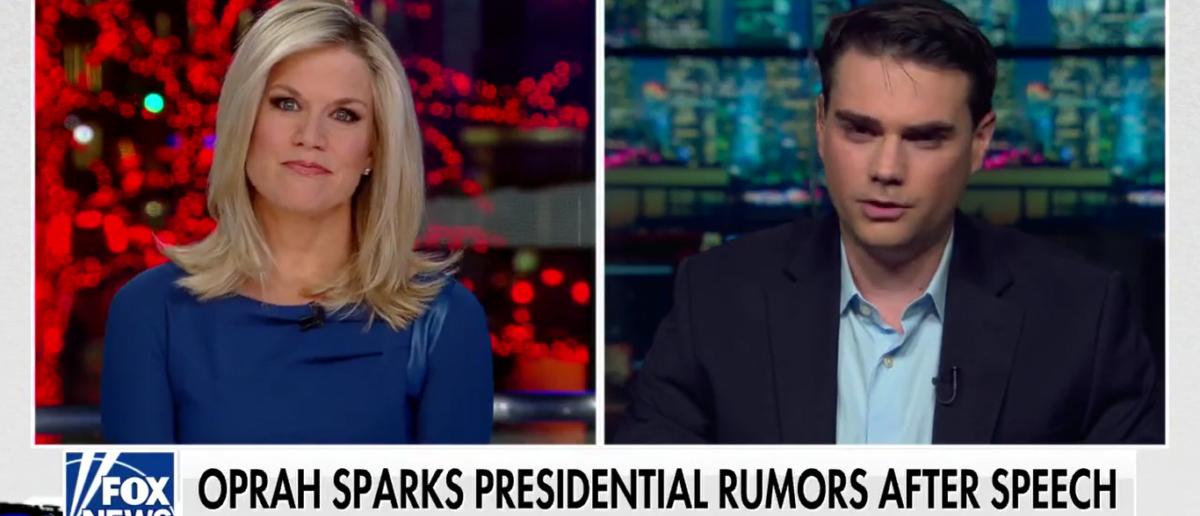 Ben Shaprio slams Oprah On Fox News Channel 1-8-18. (Photo: Screenshot/Fox News)