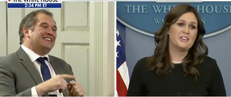 Brian Karem and Sarah Sanders (Screenshot: Fox News)