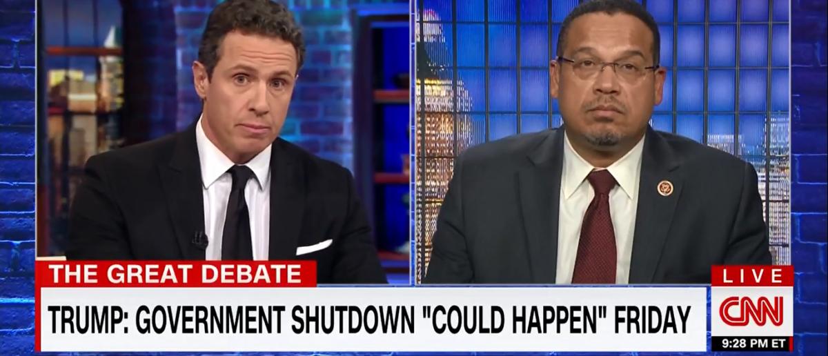 CNN's Cuomo stands up to Democratic Rep. over gov't shutdown 1-17-18. (Photo: Screenshot/CNN)