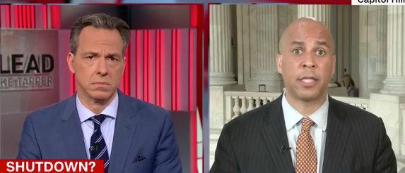 Cory Booker CNN screenshot