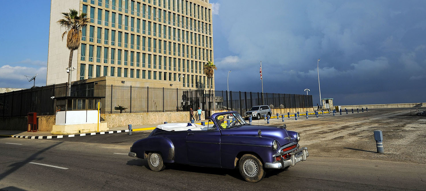 Granma, the Communist Party newspaper and a source of anti-US tirades since 1965, made history on September 21, 2016 by running a US embassy notice for American citizens living in Cuba.The notice gives information on how US residents can request absentee ballots to vote in the November 8 presidential election. YAMIL LAGE/AFP/Getty Images