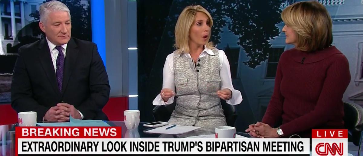 Dana Bash praises President Donald Trump for DACA meeting 1-9-18 on CNN. (Photo: Screenshot/CNN)