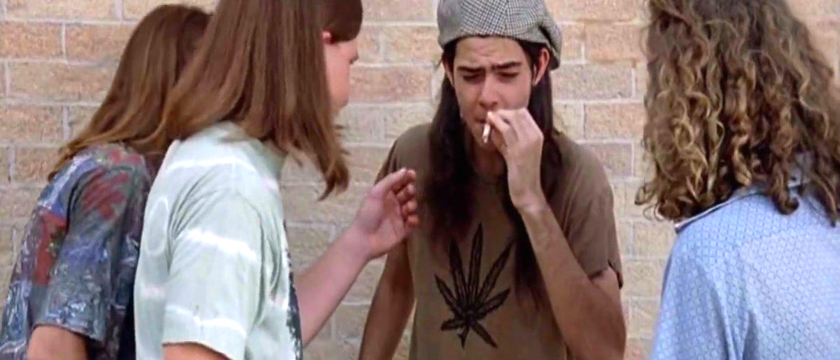 Dazed and Confused YouTube screenshot Slater gets stoned YouTube screenshot/Dougaloon