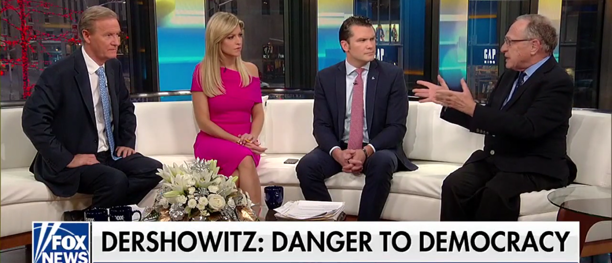 "Harvard Professor Alan Dershowitz warned the media against using psychiatry to undercut or remove President Donald Trump and compared their efforts to tactics used by Communist Russia and China, on ""Fox and Friends"" Monday 1-8-18. (Photo: Screenshot/Fox News)"