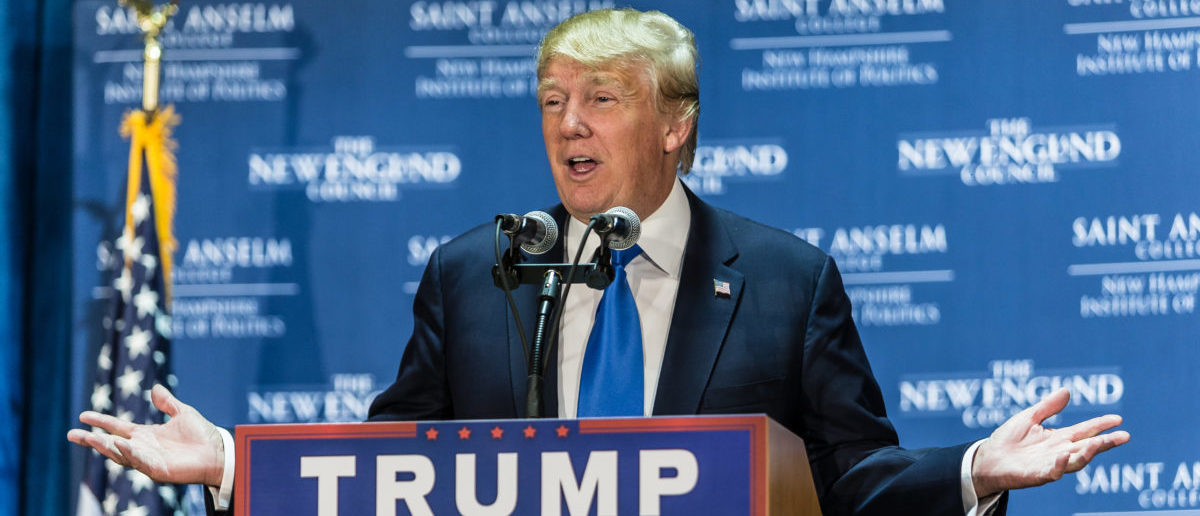 Donald Trump spoke in New Hampshire in 2015. (Photo: ShutterStock/Ilya B. Mirman)