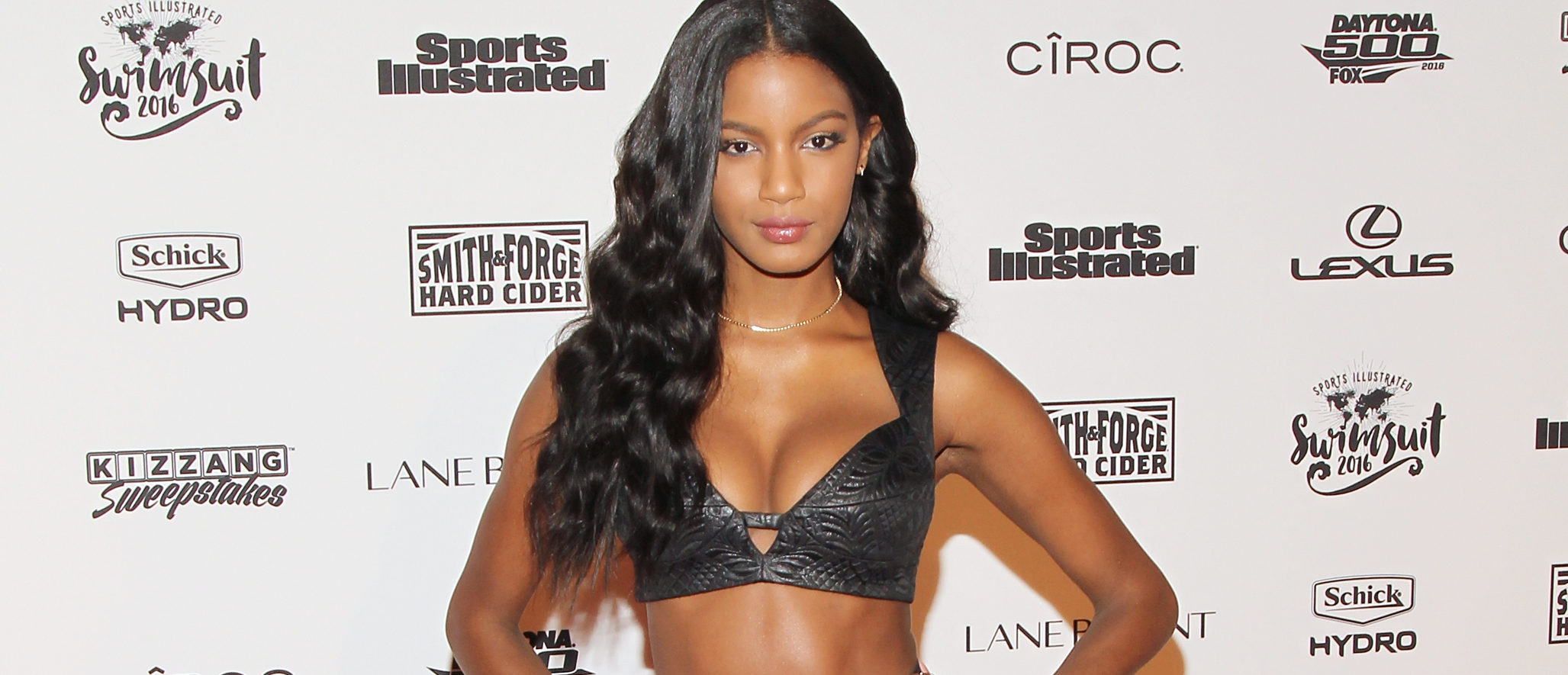 Model Ebonee Davis attends the Sports Illustrated Celebrates Swimsuit 2016 at Brookfield Place on February 16, 2016 in New York City. (Photo by Bennett Raglin/Getty Images)