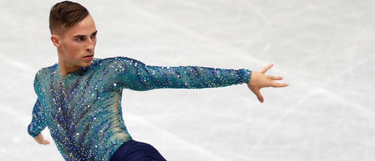 Figure Skating - ISU Grand Prix of Figure Skating NHK Trophy - Men's Free Skating - Osaka, Japan - November 11, 2017 - Adam Rippon of the U.S. in action. REUTERS/Kim Kyung-Hoon