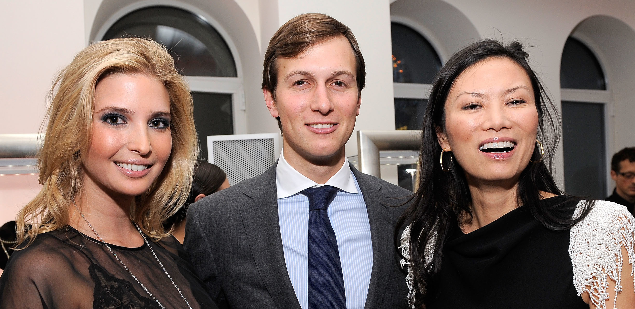 NEW YORK - MARCH 01: Entrepreneur and socialite Ivanka Trump, businessman Jared Kushner and Wendi Murdoch attend the Ivanka Trump Fine Jewelry Collection Launch Benefitting The United Nations Foundation at Trump Park Avenue on March 1, 2010 in New York City. (Photo by Jemal Countess/Getty Images)