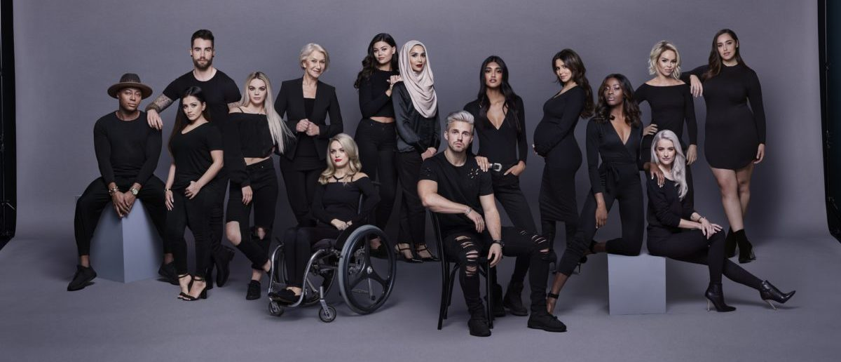 LONDON, ENGLAND - FEBRUARY 23: In this handout image supplied by L'Oreal Paris and The Princes Trust (L-R) Gary Thompson, Chez Rust, Kaushal, Louisa Johnson, Helen Mirren, Jordan Bone, Emily Canham, Amena Khan, Marcus Butler, Neelam Gill, Cheryl, AJ Odudu, Katie Piper, Victoria Magrath and Jada Sezer, ambassadors for the All Worth It programme on February 23rd, 2017 in London, England. (All Worth It / The Princes Trust and LOréal Paris via Getty Images)