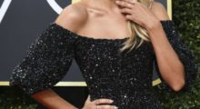 Renee Bargh arrives for the 75th Golden Globe Awards on January 7, 2018, in Beverly Hills, California. / AFP PHOTO / VALERIE MACON        (Photo credit should read VALERIE MACON/AFP/Getty Images)