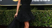 Heidi Klum arrives for the 75th Golden Globe Awards on January 7, 2018, in Beverly Hills, California. / AFP PHOTO / VALERIE MACON        (Photo credit should read VALERIE MACON/AFP/Getty Images)