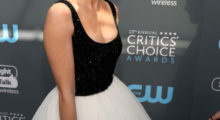 Sarah Hyland arrives at The 23rd Annual Critics' Choice Awards in Santa Monica. (Photo by Christopher Polk/Getty Images for The Critics' Choice Awards)