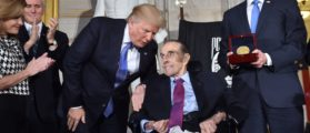 WWII Vet Bob Dole Is Wheelchair Bound — But That Didn't Stop Him When The Anthem Played [VIDEO]