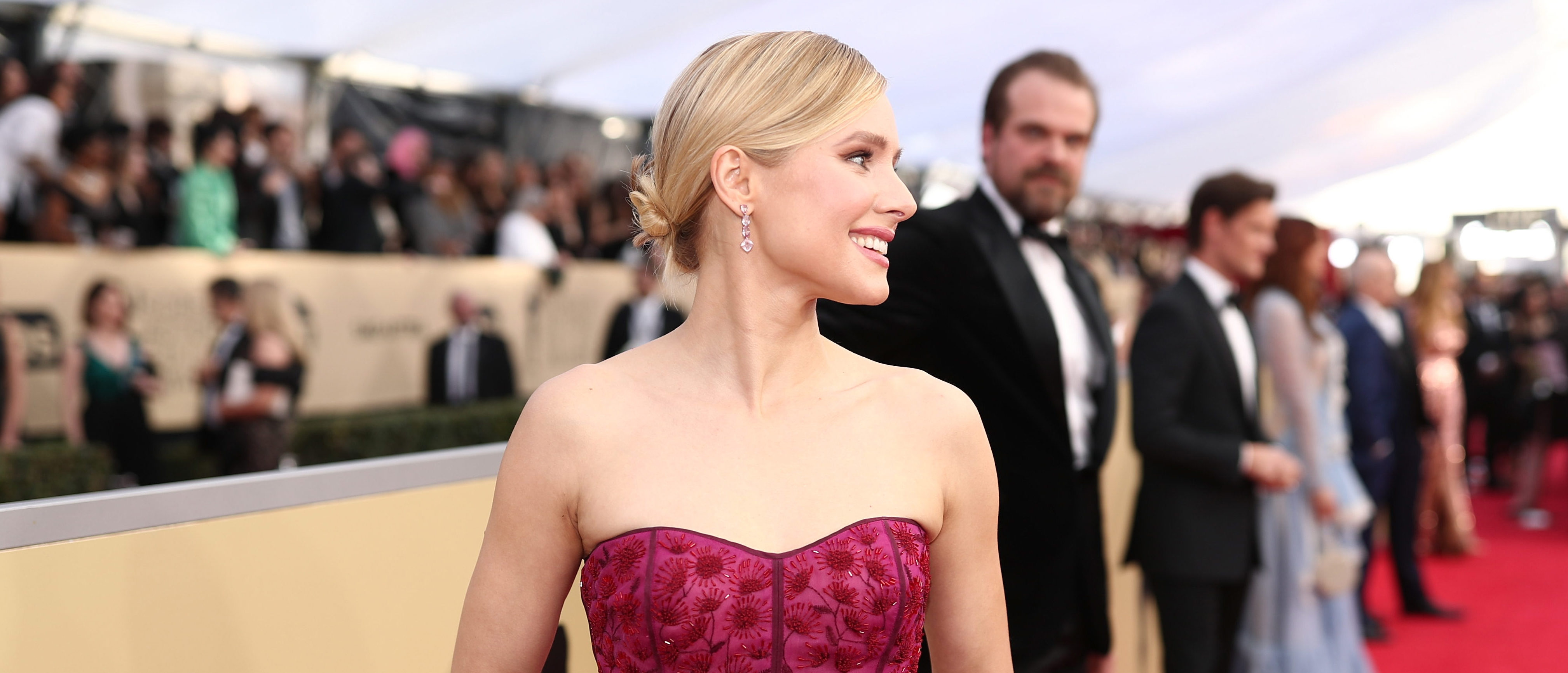 LOS ANGELES, CA - JANUARY 21:  Actor Kristen Bell attends the 24th Annual Screen Actors Guild Awards at The Shrine Auditorium on January 21, 2018 in Los Angeles, California. 27522_010  (Photo by Christopher Polk/Getty Images for Turner Image)