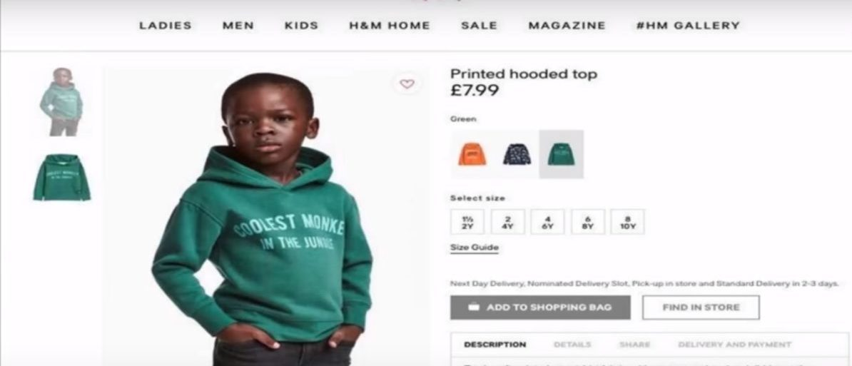 """H&M forced to apologize for a sweatshirt featuring a black child model in a """"Coolest Monkey"""" sweatshirt Mega News via YouTube"""