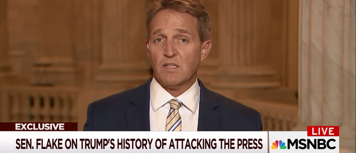 Jeff Flake Blames Trump for Journos Being Jailed Abroad -Morning Joe 1-17-18