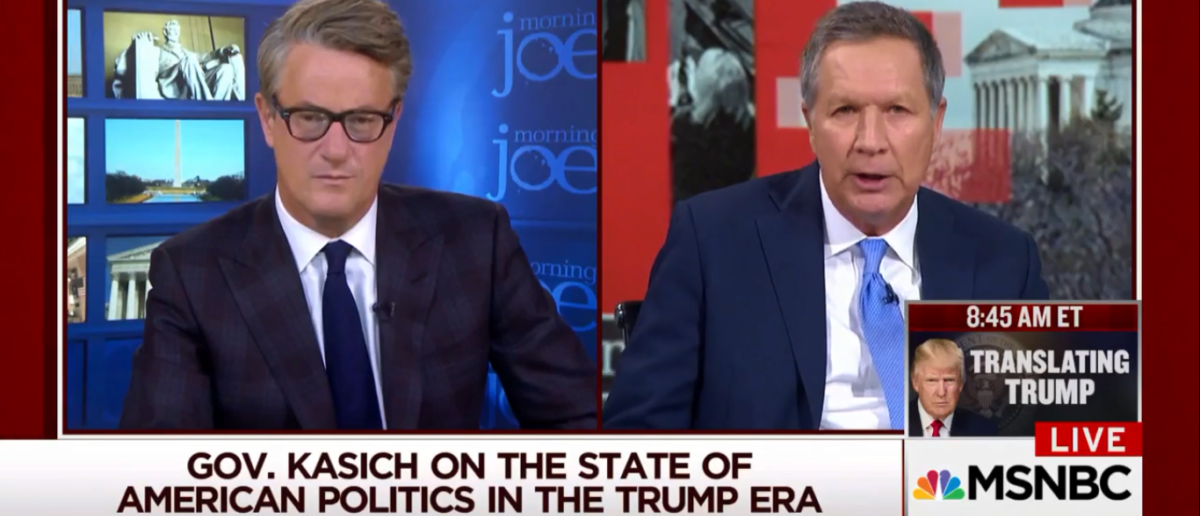 John Kasich Defends Biased Press Says It's Better than no press - Morning Joe 1-30-18