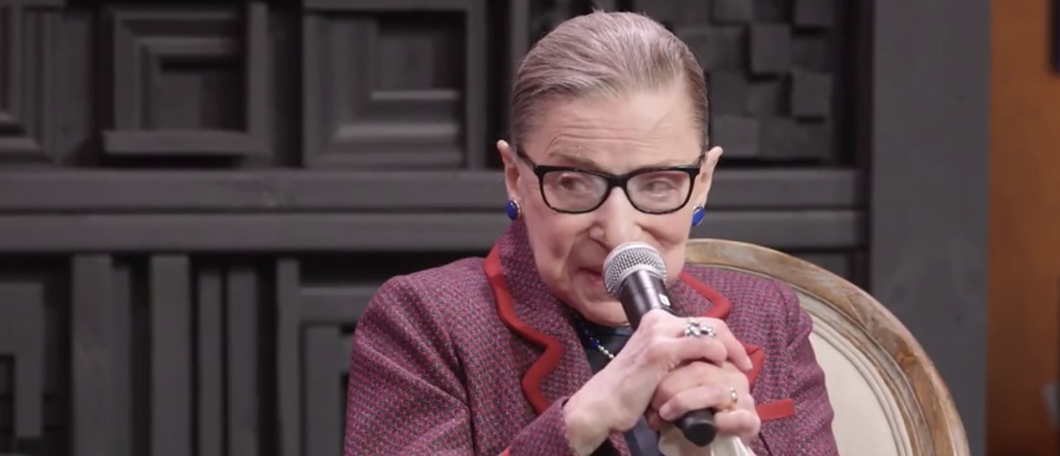 Justice Ruth Bader Ginsburg speaks at the Sundance Film Festival in Jan. 2018. (Screenshot)