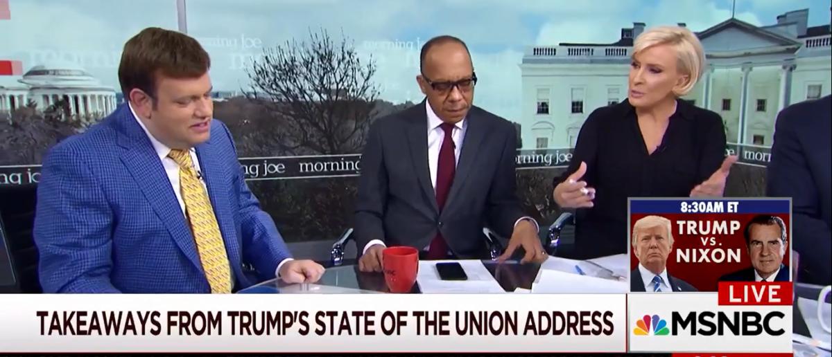 Morning Joe's Mika Calls Trump the Great Dictator on MSNBC 1-31-18
