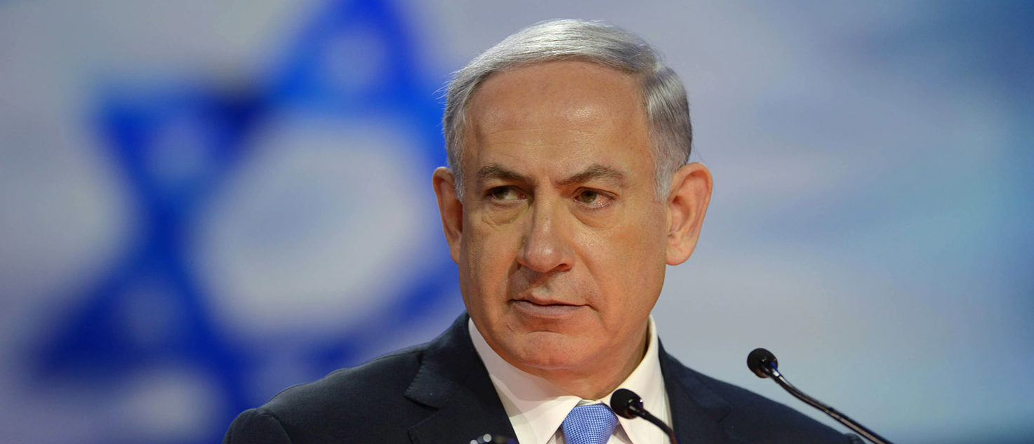 In this handout provided by the Israeli Government Press Office (GPO) Israeli Prime Minister Benjamin Netanyahu speaks during the American Israel Public Affairs Committee (AIPAC) 2015 Policy Conference, March 2, 2015 in Washington, DC. Tomorrow March 3rd Prime Minister Netanyahu is scheduled to address a joint session of the US Congress. Photo by Amos Ben Gershom/GPO via Getty Images