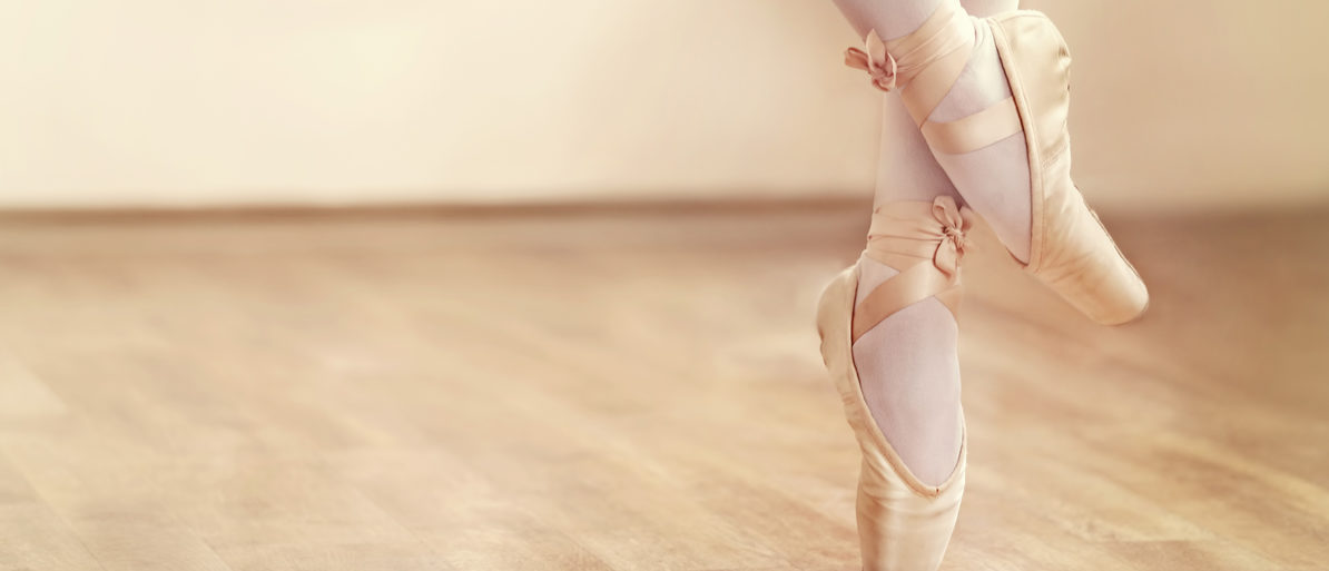 Here is a photo of the legs of a ballerina in ballet shoes. (Photo: Shutterstock/ Africa Studio)