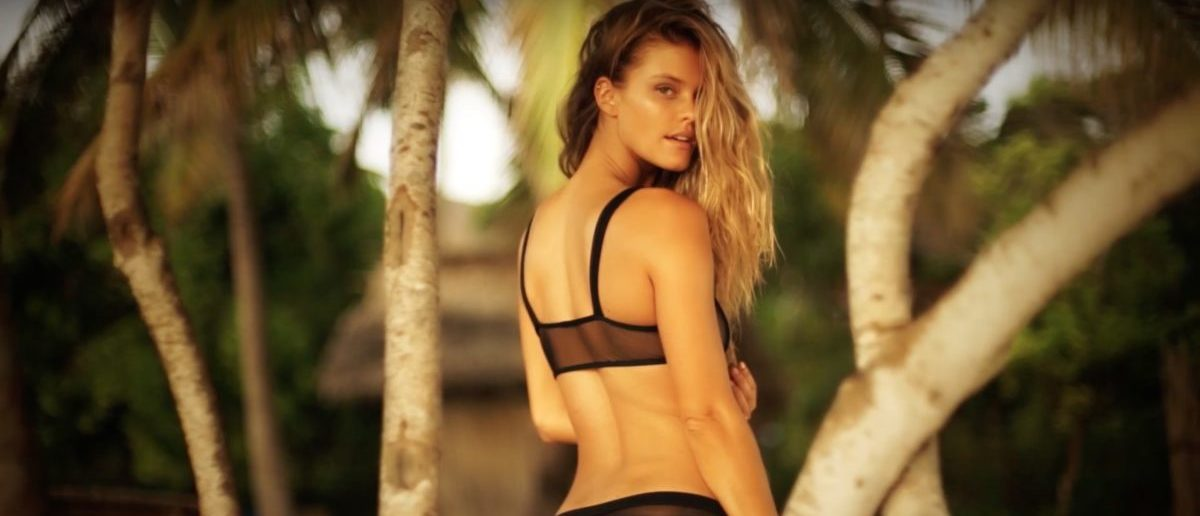 Nina Agdal (Credit: Screenshot/YouTube Sports Illustrated Swimsuit)