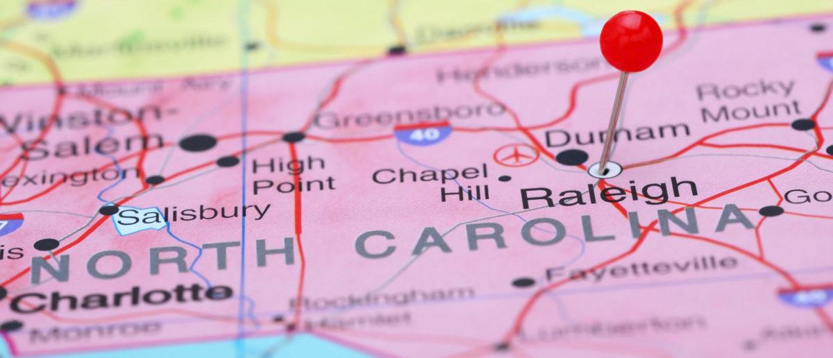 North Carolina Map (ShutterStock/Dmitrijs Kaminskis)