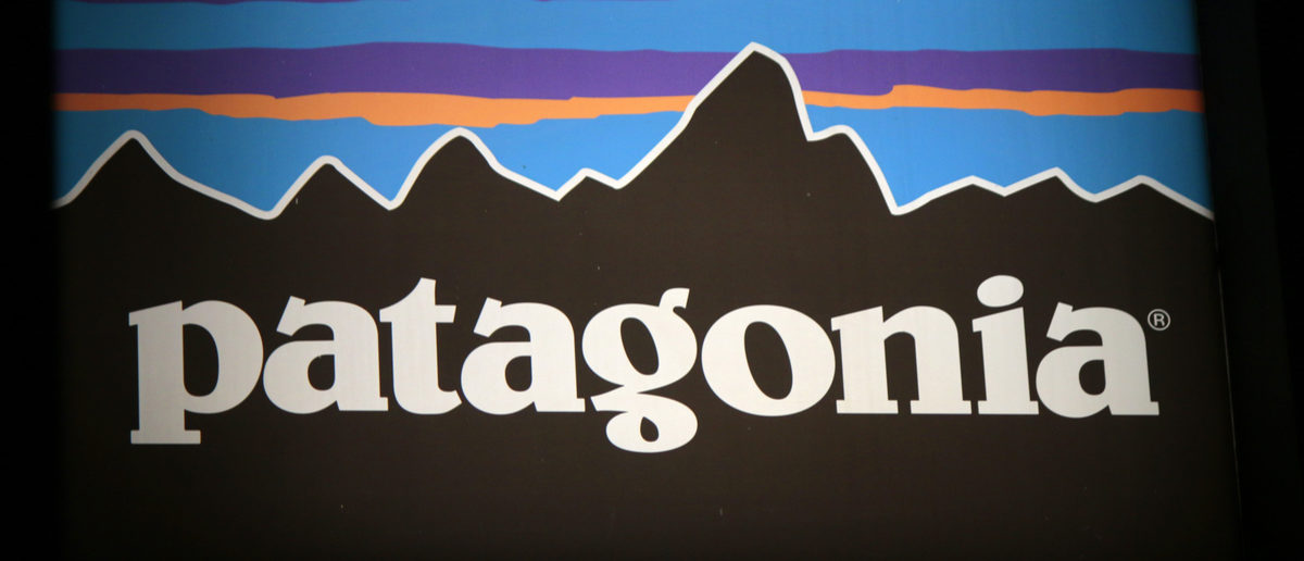 "The logo of the brand ""Patagonia,"" Berlin. (Shutterstock/360b)"